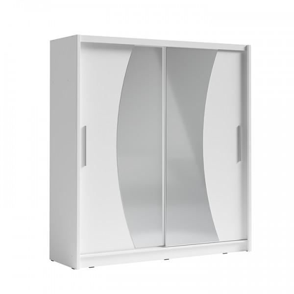 TEMPO KONDELA Skriňa s posúvacími dverami, biela, BIRGAMO TYP 2