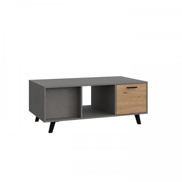 TEMPO KONDELA Konferenčný stolík, dub artisan/smooth sivý, PARIDE ST