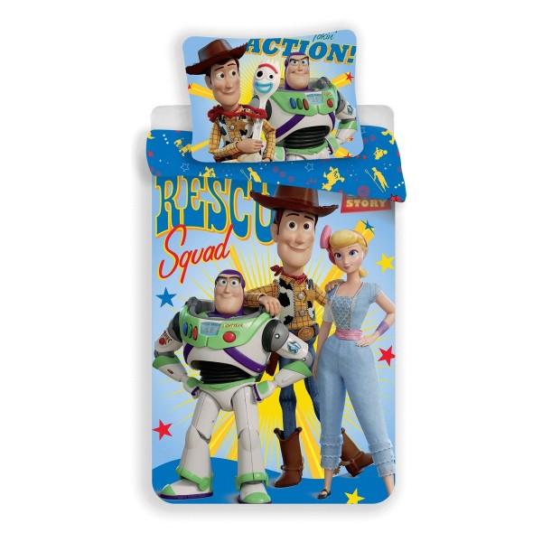 Jerry Fabrics Detské bavlnené obliečky Toy Story, 140 x 200 cm, 70 x 90 cm