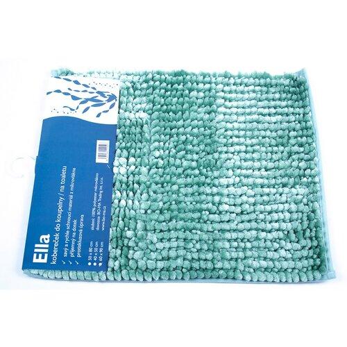 Bo-ma Kúpeľňová predložka Ella micro tyrkysová, 50 x 80 cm