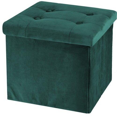 Koopman Úložný sedací box Smooth Velvet, zelená