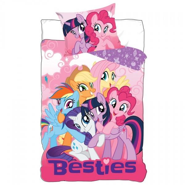 TipTrade Detské bavlnené obliečky My Little Pony, 140 x 200 cm, 70 x 80 cm
