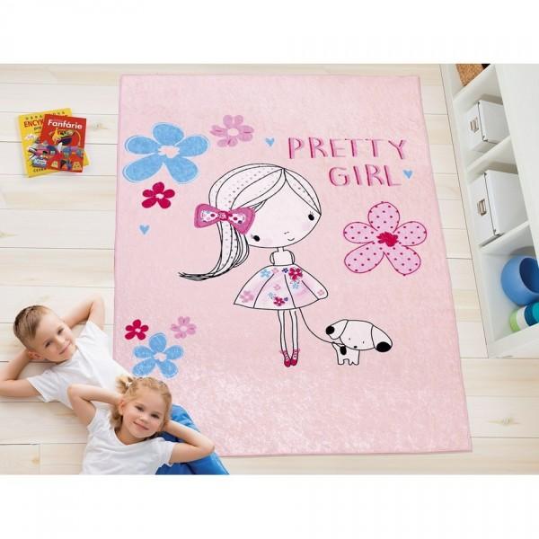 Bellatex Detský kusový koberec Dievčatko, 100 x 150 cm
