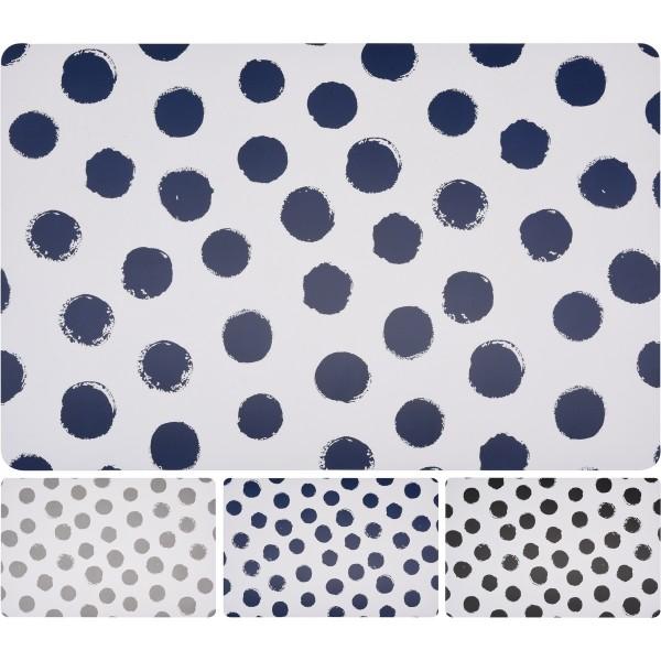 Koopman Prestieranie Bodky sivá, 28 x 43 cm, sivá, sada 4 ks