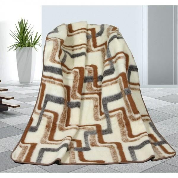 Bellatex Vlnená deka Geometria, 155 x 200 cm