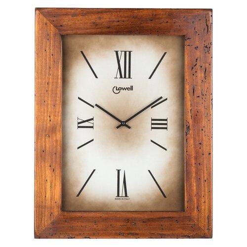 Lowell 03500B Dizajnové nástenné hodiny 44 x 34 cm