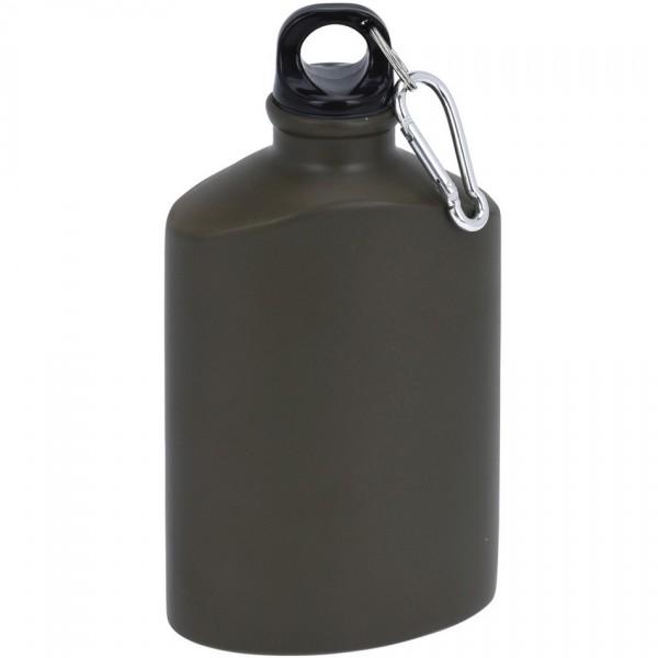 Koopman Športová hliníková fľaša s uzáverom 500 ml, army
