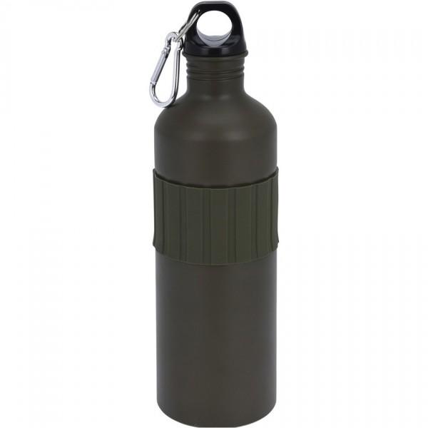 Koopman Športová hliníková fľaša s uzáverom 750 ml, army