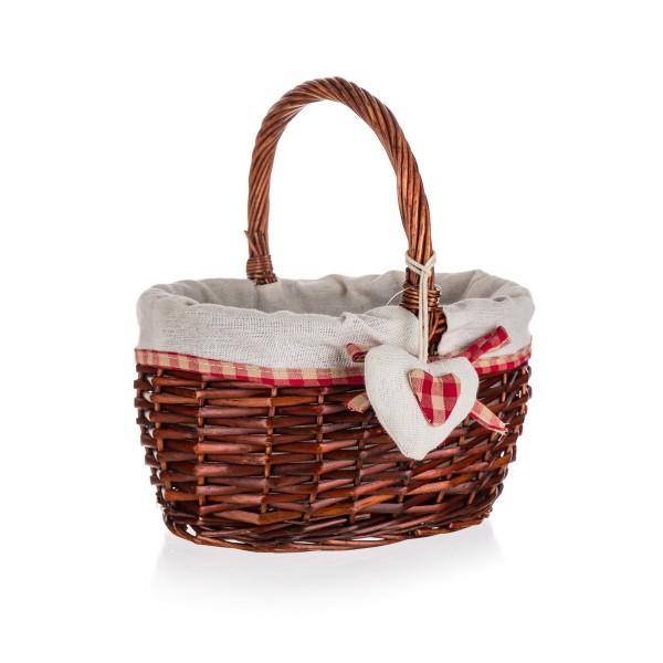 Home Decor Prútený košík s držadlom Classic, 23 x 19,5 x 12 cm