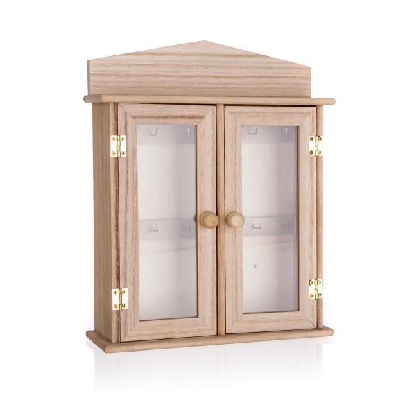 Drevená skrinka na kľúče, 27 x 27 x 6,5 cm