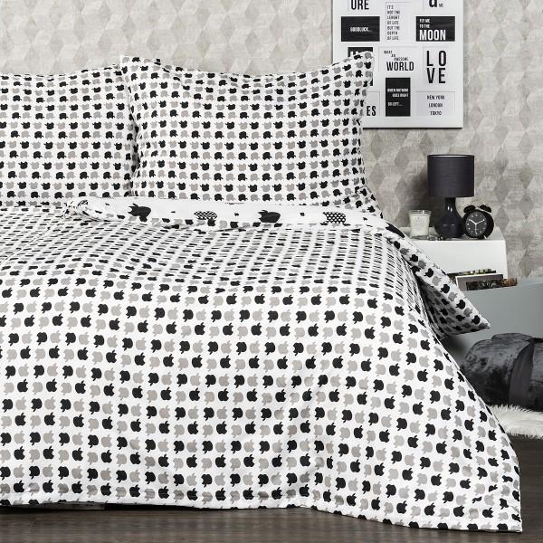 4home Obliečky Appletime micro , 140 x 200 cm, 70 x 90 cm