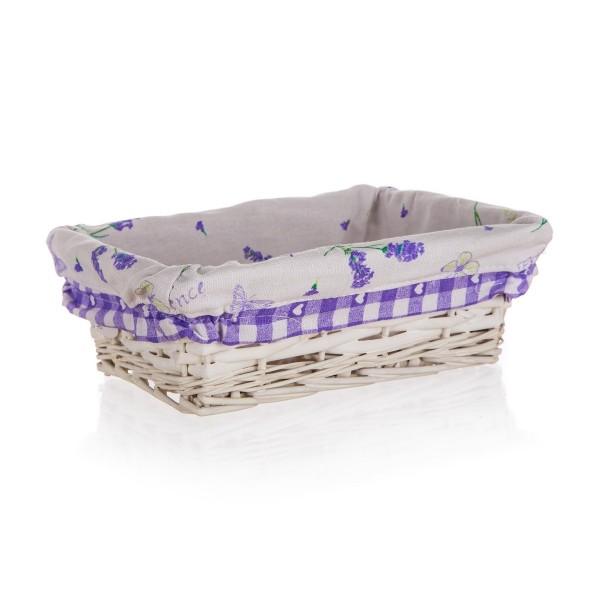 Home Decor Prútený košík Lavender, 21 x 16 x 6,5 cm