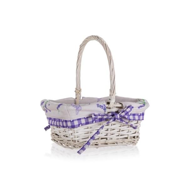 Home Decor Prútený košík s držadlom Lavender, 22,5 x 18,5 x 10 cm