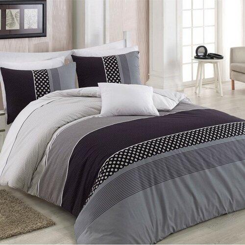 BedTex Bavlnené obliečky Eifel sivá, 220 x 200 cm, 2 ks 70 x 90 cm