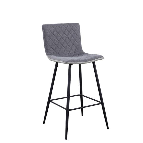 TEMPO KONDELA Barová stolička, svetlosivá/sivá/čierna, TORANA