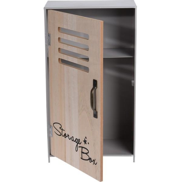 Koopman Dekoračnéá úložná skrinka Workshop sivá, 18 x 32 x 10 cm