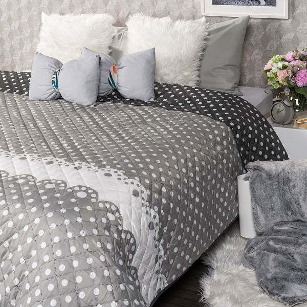 4Home Prehoz na posteľ Dots, 220 x 240 cm