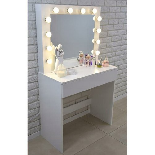 Aldo Kozmetický stolík so zrkadlom Linda, 140 x 40 x 80 cm