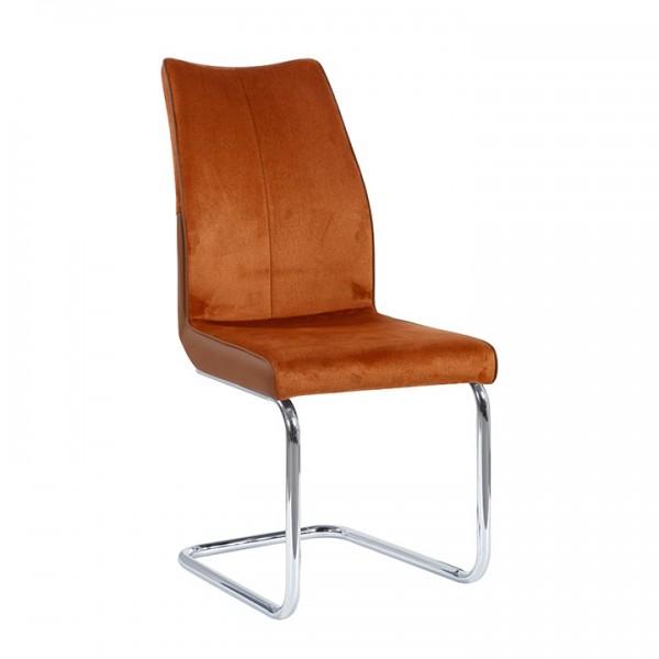 TEMPO KONDELA Jedálenská stolička, tehlová/tehlová, FARULA