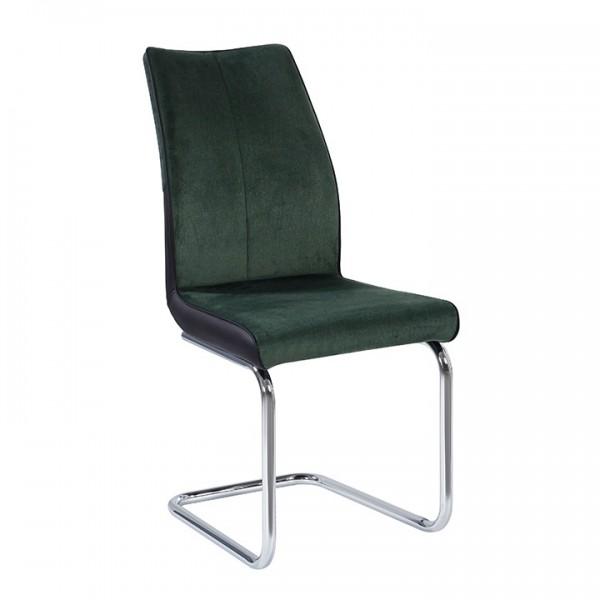 TEMPO KONDELA Jedálenská stolička, smaragdová/čierna, FARULA