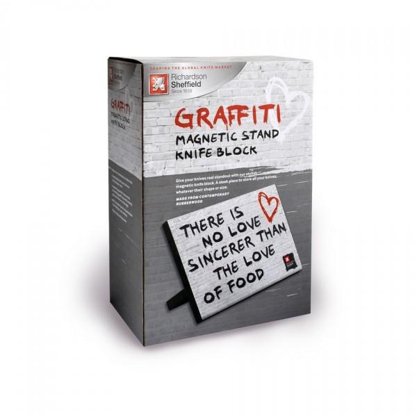 Richardson Sheffield Magnetický stojan na nože Graffiti 30,5 x 21 cm