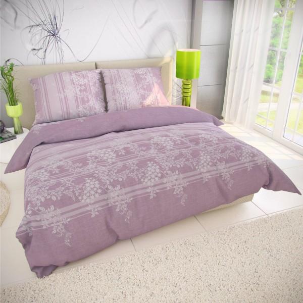 Kvalitex Bavlnené obliečky Bova fialová, 200 x 200 cm, 2 ks 70 x 90 cm