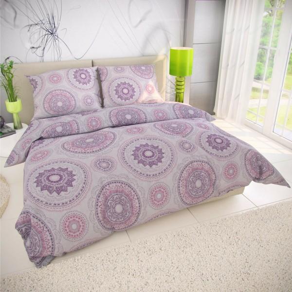Kvalitex Bavlnené obliečky Manila fialová, 200 x 200 cm, 2 ks 70 x 90 cm