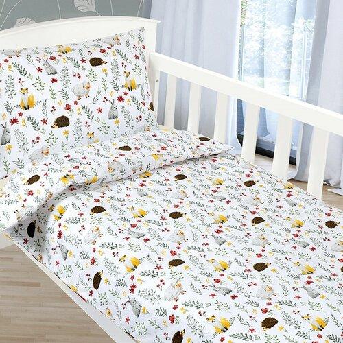 Bellatex Detské obliečky Agáta Zvieratká na lúke, 90 x 135 cm, 45 x 60 cm