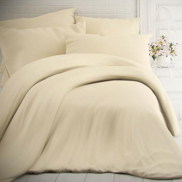 Kvalitex Bavlnené obliečky smotanová, 220 x 200 cm, 2 ks 70 x 90 cm
