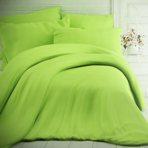 Kvalitex Bavlnené obliečky zelená, 140 x 200 cm, 70 x 90 cm