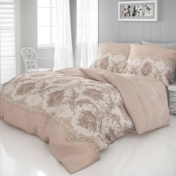Kvalitex Saténové obliečky Luxury Collection Adra béžová, 220 x 200 cm, 2 ks 70 x 90 cm