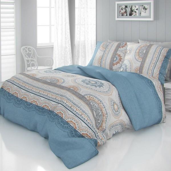 Kvalitex Saténové obliečky Luxury Collection Carmela modrá, 220 x 200 cm, 2 ks 70 x 90 cm