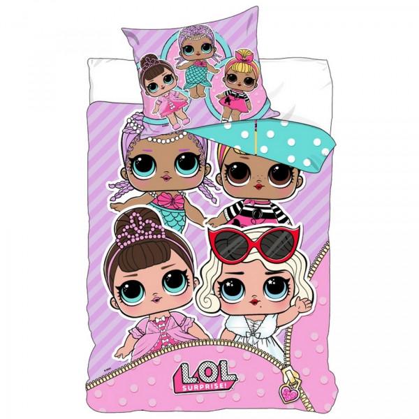 Detské bavlnené obliečky LOL Surprise Party, 140 x 200 cm, 70 x 90 cm