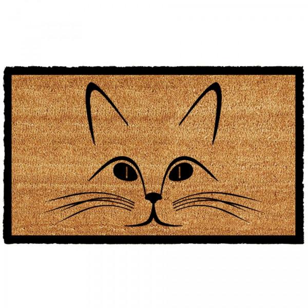 Home Elements Kokosová rohožka Mačacia hlava, 43 x 73 cm