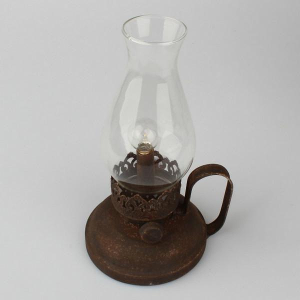 Dakls Kovová lampa so žiarovkou, 24,5 cm