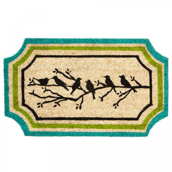 Home Elements Kokosová rohožka Vtáčiky na vetvičke, 45 x 75 cm