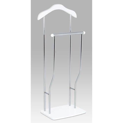 Autronic Nemý sluha Dustin chróm / biela, 45 x 108 cm