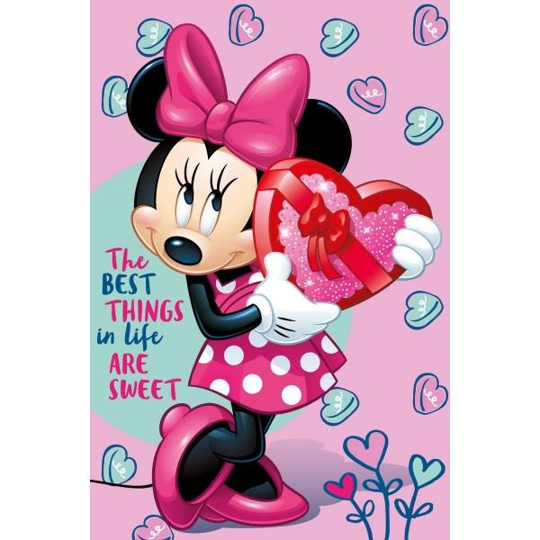 Jerry Fabrics Deka Minnie pink, 100 x 150 cm