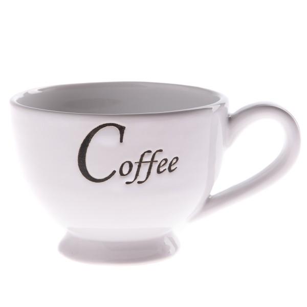 Keramická šálka Coffee 180 ml, biela