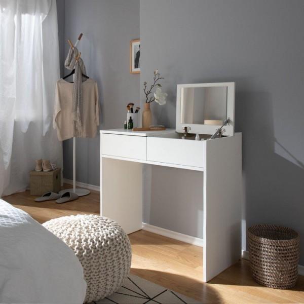 Toaletný stolík, toaletka, biela, BEAUTY