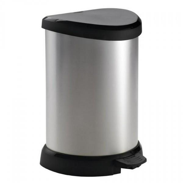 Curver Decobin pedal odpadkový kôš 20 L, strieborná