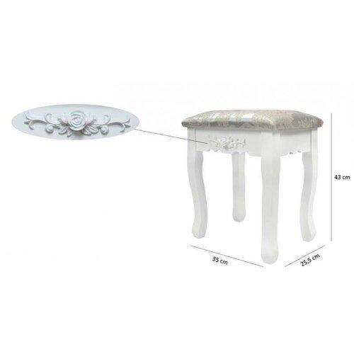 Aldo Toaletný stolík s taburetom Emilie, 143 x 74 x 40 cm